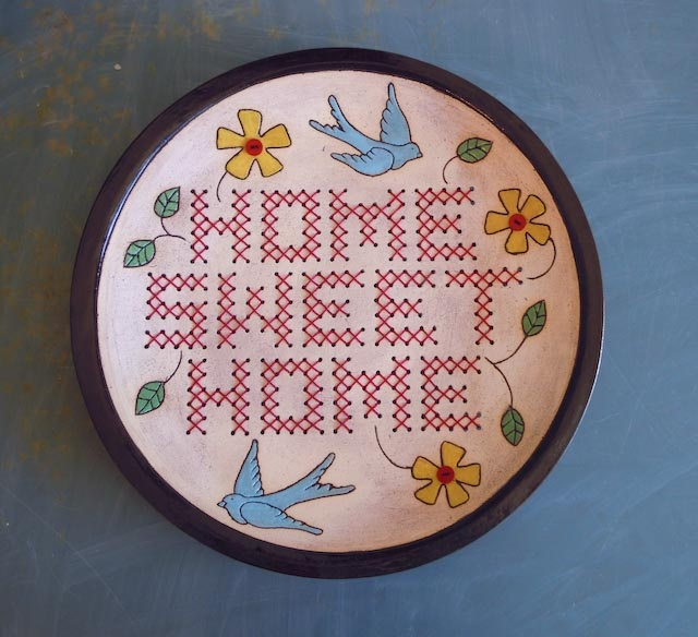 Home Sweet Home Plate - colourful
