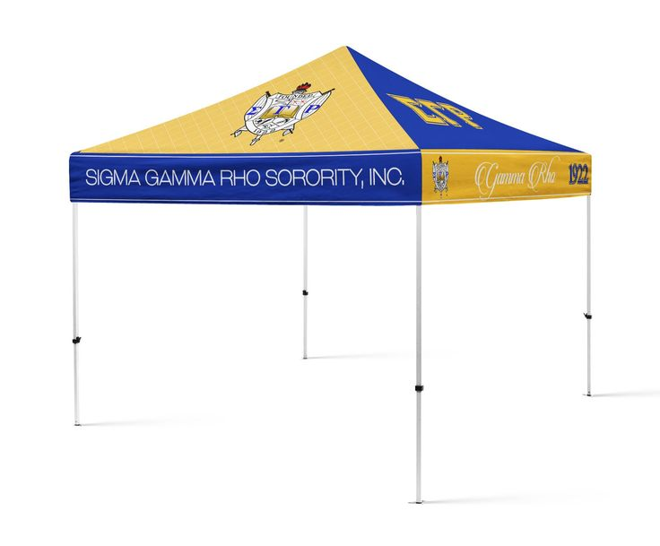 SGRho Sorority Portable Canopy Tent, Sorority Greek Tent   Designs By Deeu0027s  Hands   1