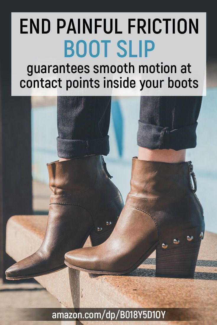 Boot Slip Solves The 1 Boot Problem Sliding On Tight New Boots One Simple Motion Means No Ankle Twisting Boots How To Stretch Boots Leather Boot Shoes