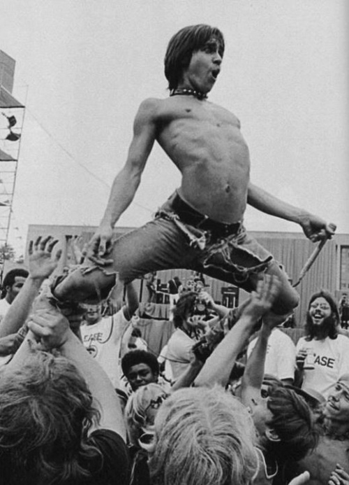 "Fronted by the perpetually-shirtless Iggy Pop, The Stooges were a seminal ""protopunk"" group that catapulted both rock music and performance to wild new levels. 1967-1974. Key track: ""Search and Destroy"""