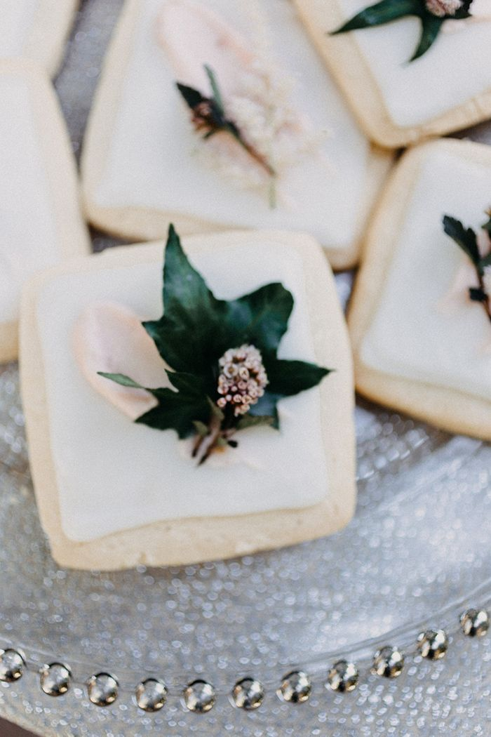 Floral Decorated Shortbread Cookies