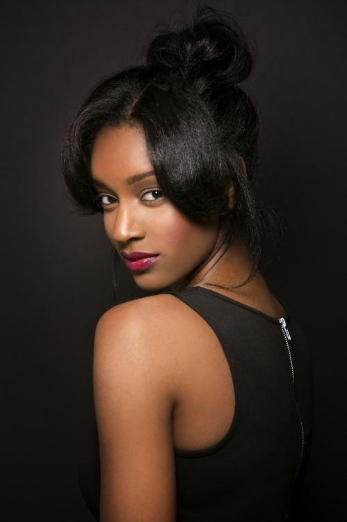 35 best high bun with bangs images on pinterest buns hairstyles my ebony mistress pmusecretfo Images