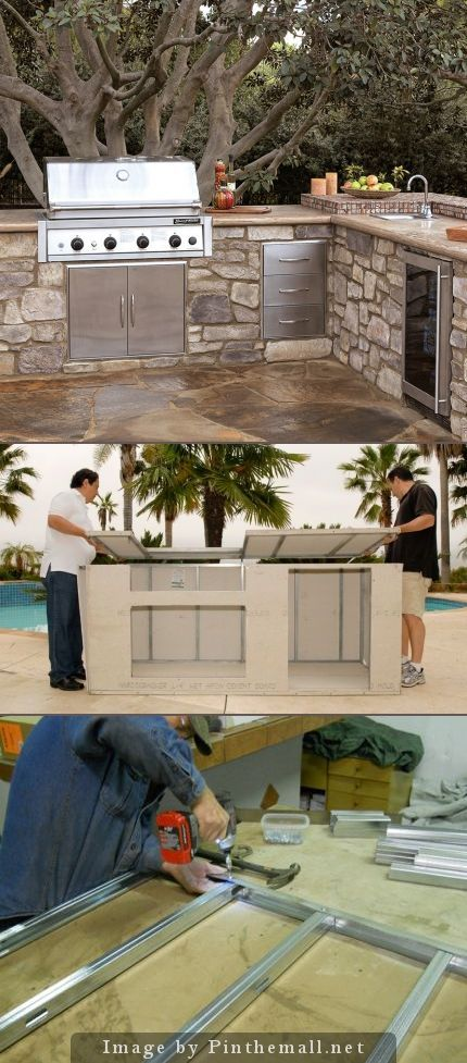 Outdoor Kitchen Modular Kits Offer A Way To Build An Outdoor Kitchen On  Your Deck Or Patio At A Fraction Of The Cost Of A Custom Designed And  Custom Built ...