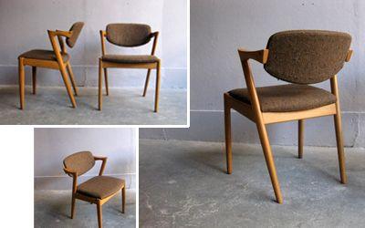 oak dinning chairs designed by Kai Kristiansen