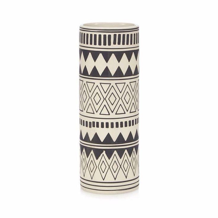 Abigail Ahern/EDITION at Debenhams Black cylinder vase