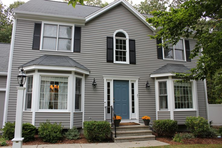 New Paint Exterior Siding Is Benjamin Moore Graystone 1475 Front Door Is Benjamin Moore
