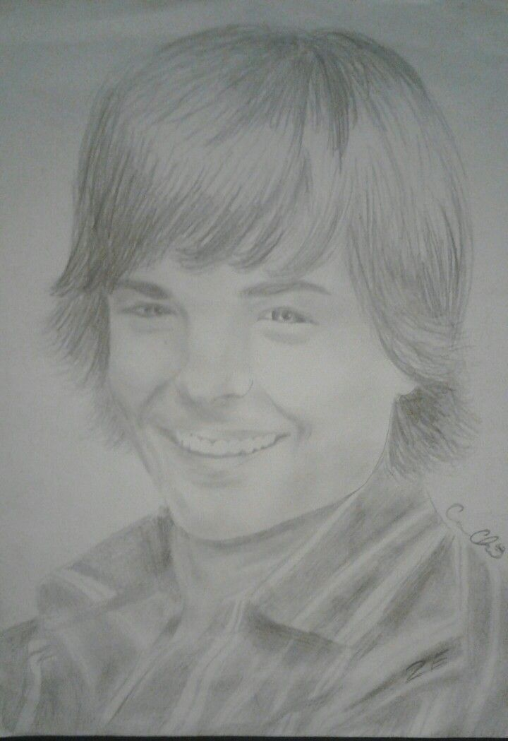 Another drawing of Zac Efron by Cassy Chiara With images My drawings Male sketch Drawings