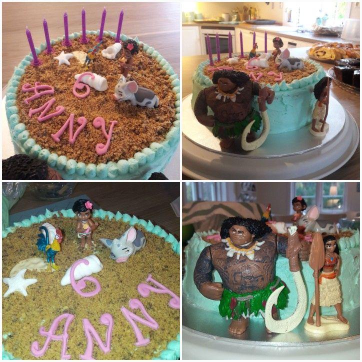 Vaiana Moana birthday cake