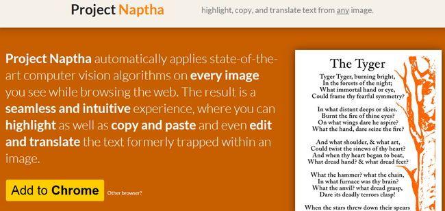 Este proyecto es algo excepcional al momento de trabajar con imágenes que tienen texto, ya que permite seleccionar el mismo, copiar, pegar, editar, borrar y hasta traducir el mismo, incluido texto de GIF animados.
