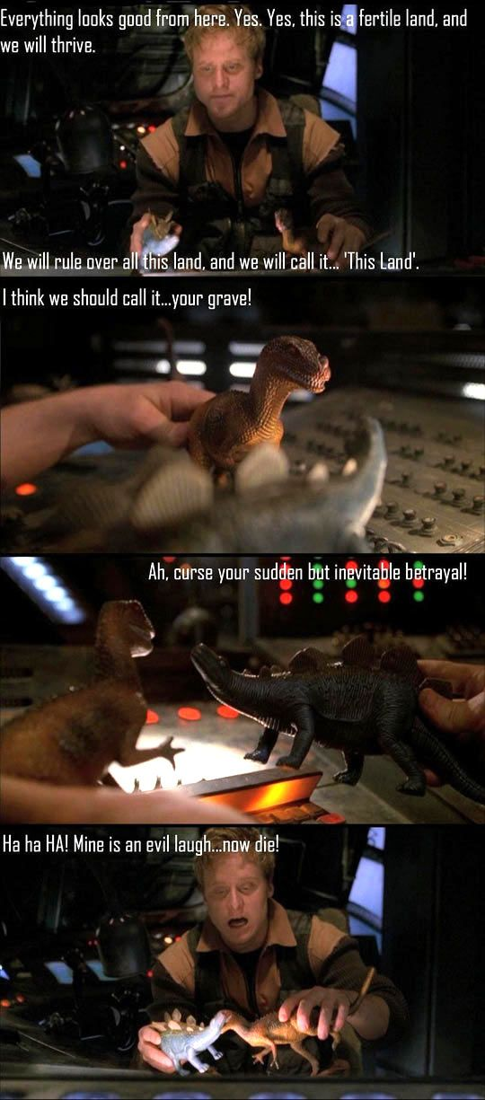 How to have fun in space : love this scene, I have a shirt with it, I bought dinosaurs and taped them to the dash of my car and called it serenity, because I love this scene and I love wash