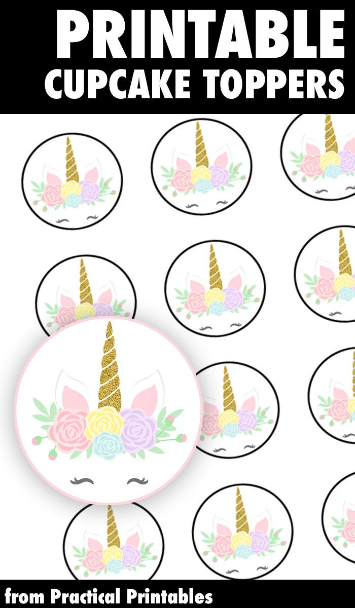The Cutest Unicorn Cupcake Toppers For Any Unicorn Themed