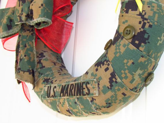 Military Wreath  Military Uniform Wreath by OneElevenArtistry, $30.00