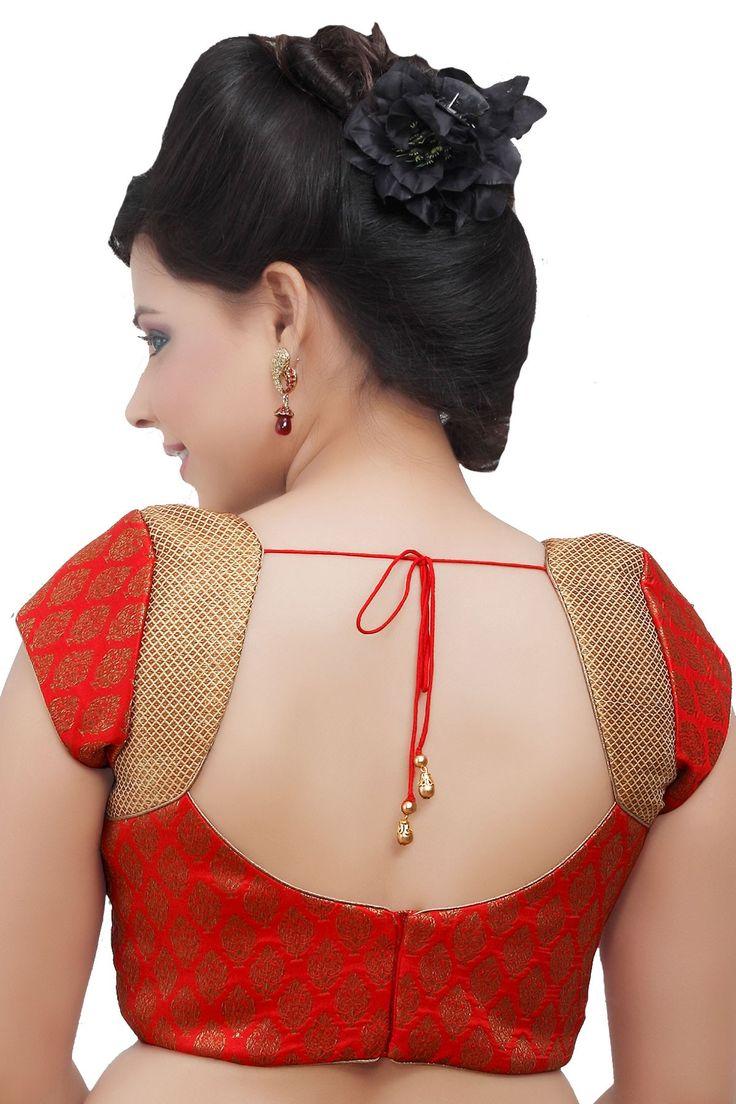 #Red Designer #Blouse in v neck ideal for #ethnic wear - BL108