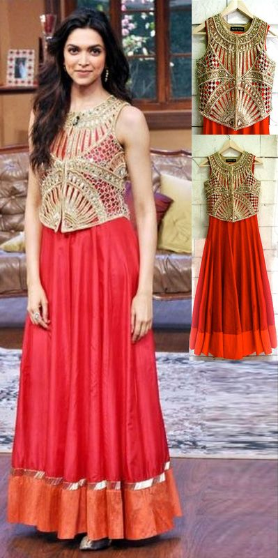 USD 148.89 Deepika Padukone in Designer Salwar Suit at Comedy Nights with Kapil 27979