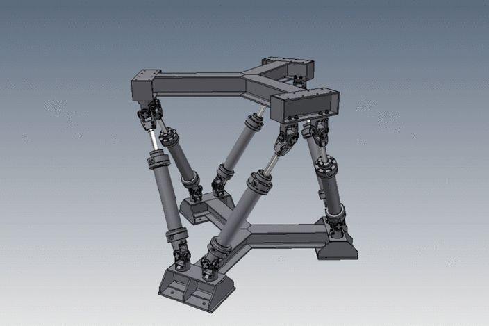Octahedral Hexapod Mechanism (Parallel Robot) - Autodesk Inventor, KeyCreator, STL, STEP / IGES - 3D CAD model - GrabCAD