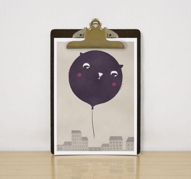 Gatto palloncino di teconlenita su DaWanda.com