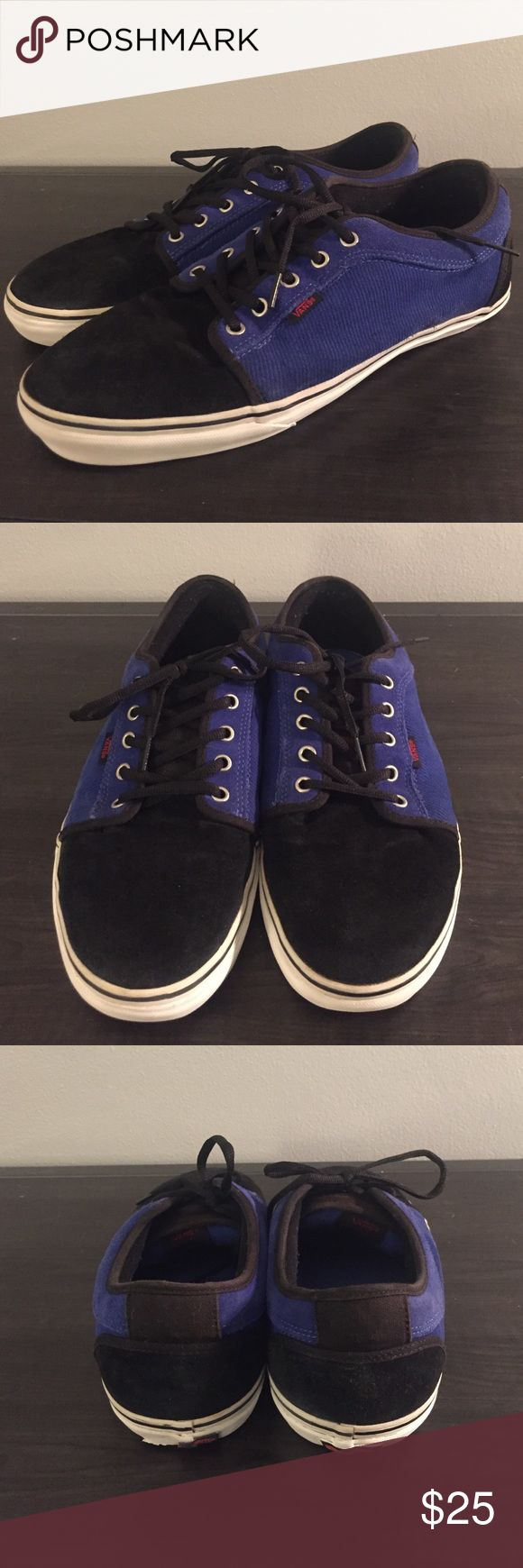 Vans Chukka Low Black & Royal Corduroy Skate Vans Chukka Low Black & Royal Skate with suede and corduroy two-toned fabric. Still in good condition! Very thick, sturdy shoe. Taking best offers! ☺️ Vans Shoes Sneakers