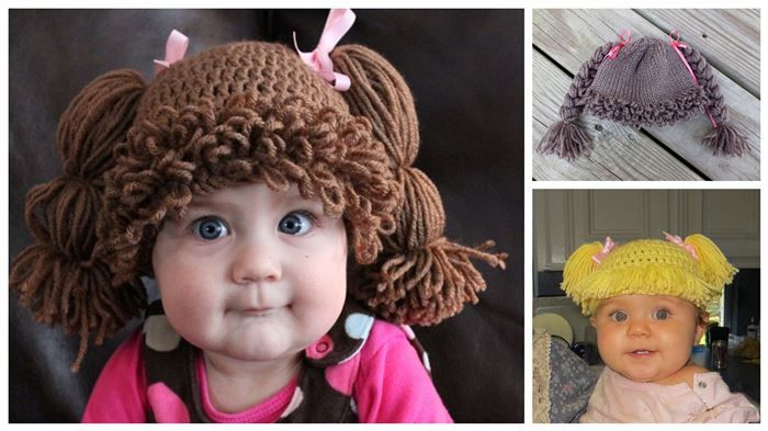 How to Make the Cabbage Patch Kids-Inspired Hat  I was never much of a cabbage patch kids fan, but these are just too adorable!