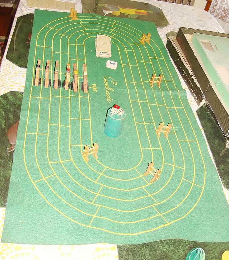 Vintage CAVALCADE American Horse Racing Game By Selchow