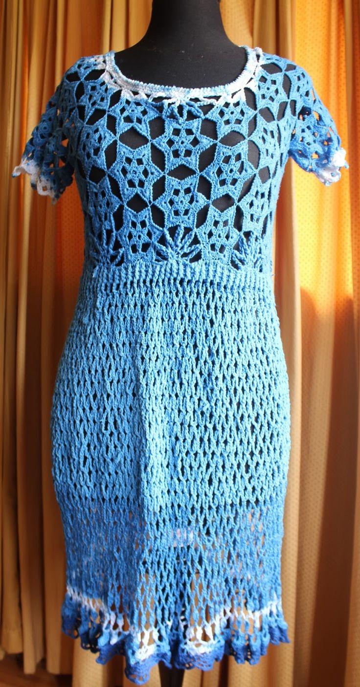 Tejido a crochet con distintos materiales y teñido