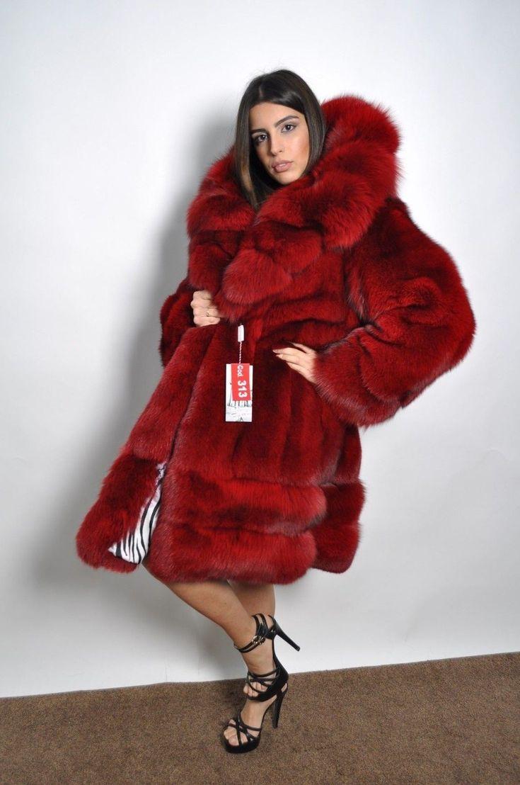 Fox coat used, This fur is completed. Pelliccia usata di volpe fox,pari al nuovo. LIKE NEW. A: 42cm B:64cm D :110cm F :97cm G :170cm. UK size-12 USA size-10. Capo igienizzato con fodera nuova.   eBay!