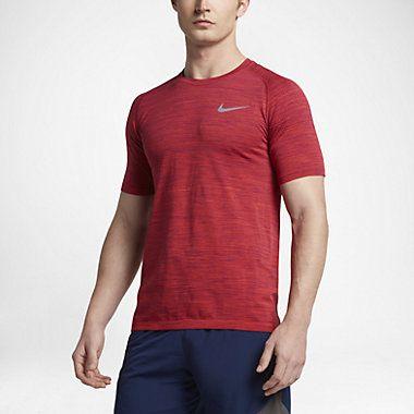 Kortärmad löpartröja Nike Dry Knit för män
