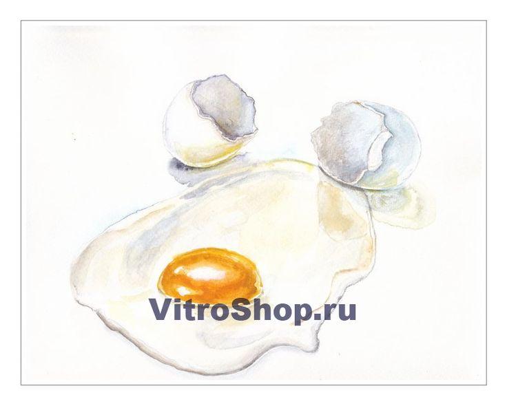 """Картина """"Яичница-глазунья"""", акварель, Княжицкая Татьяна"""