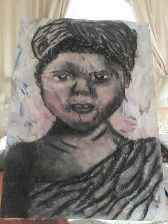 African girl done in charcoal