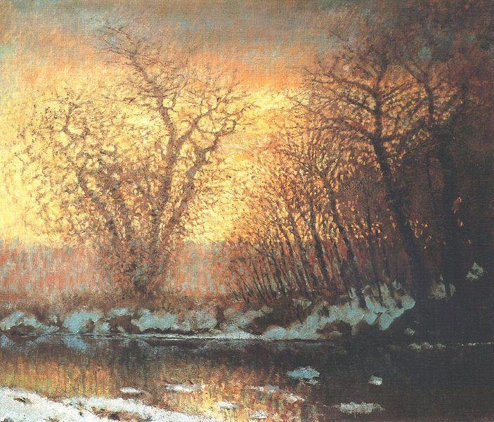 László Mednyánszky- Thawing of Snow (1896-9).