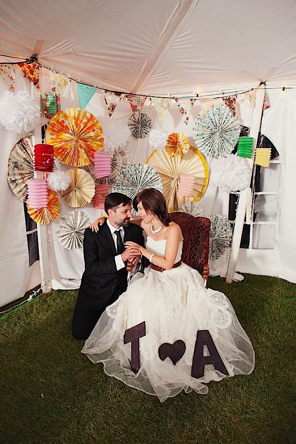 wedding reception photo booth singapore%0A DIY Photobooth in the corner of a tent reception  lots of fun  Check out