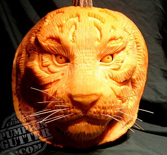 Food Network Pumpkin Carving   Tiger Part 59