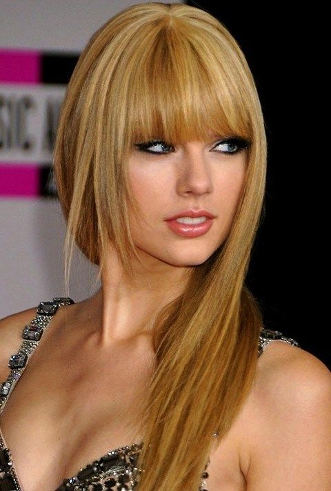 Taylor Swift long layered haircut #celebrityhairstyles