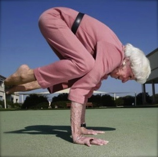 Meet Bette Calman. At 86 years of age, she is still as flexible as ever from a regular Yoga practice and teaching frequent classes. Here's to the wonderful effects of 60 years of Yoga!