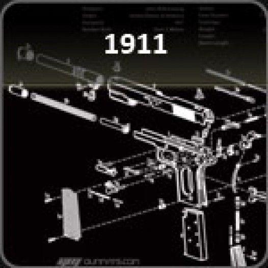 1911 Gun Cleaning Mat Guns Guns Firearms Cleaning