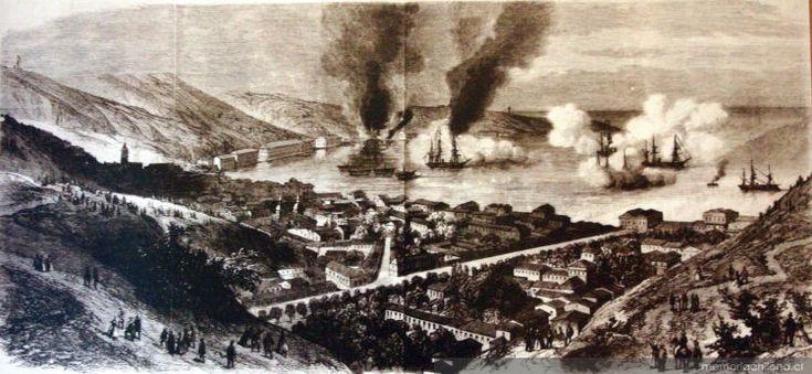 Bombardeo de Valparaíso. Guerra contra España, 31 de marzo de 1866