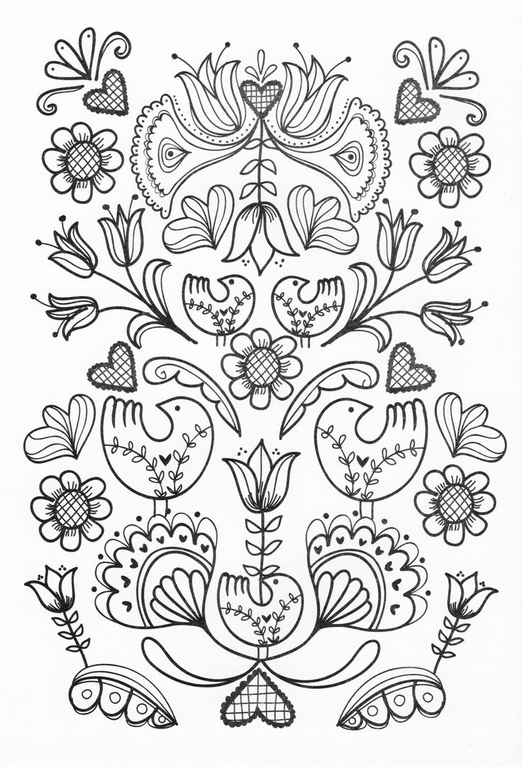 Flower growing coloring pages - Adult Coloring Page