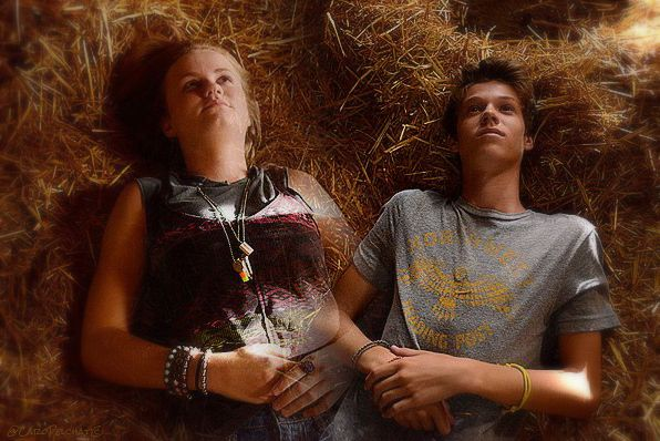 Mackenzie Lintz and colin ford under the dome