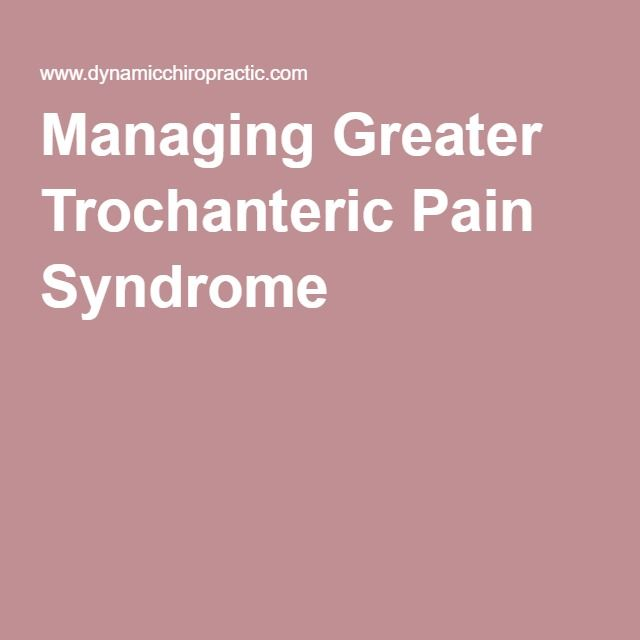 Managing Greater Trochanteric Pain Syndrome