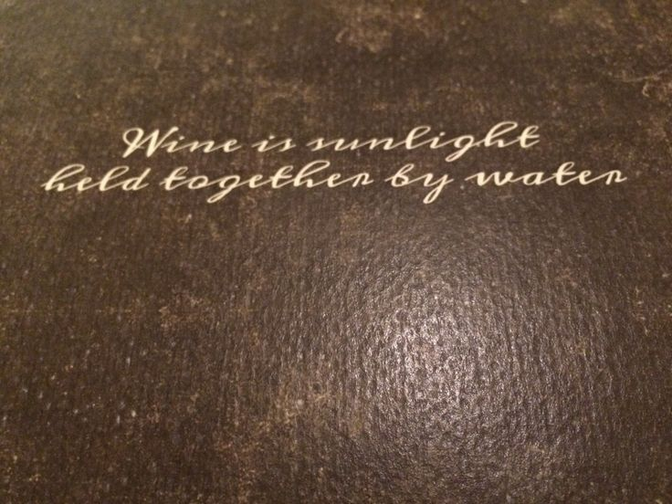 Wine is sunlight held together by water.