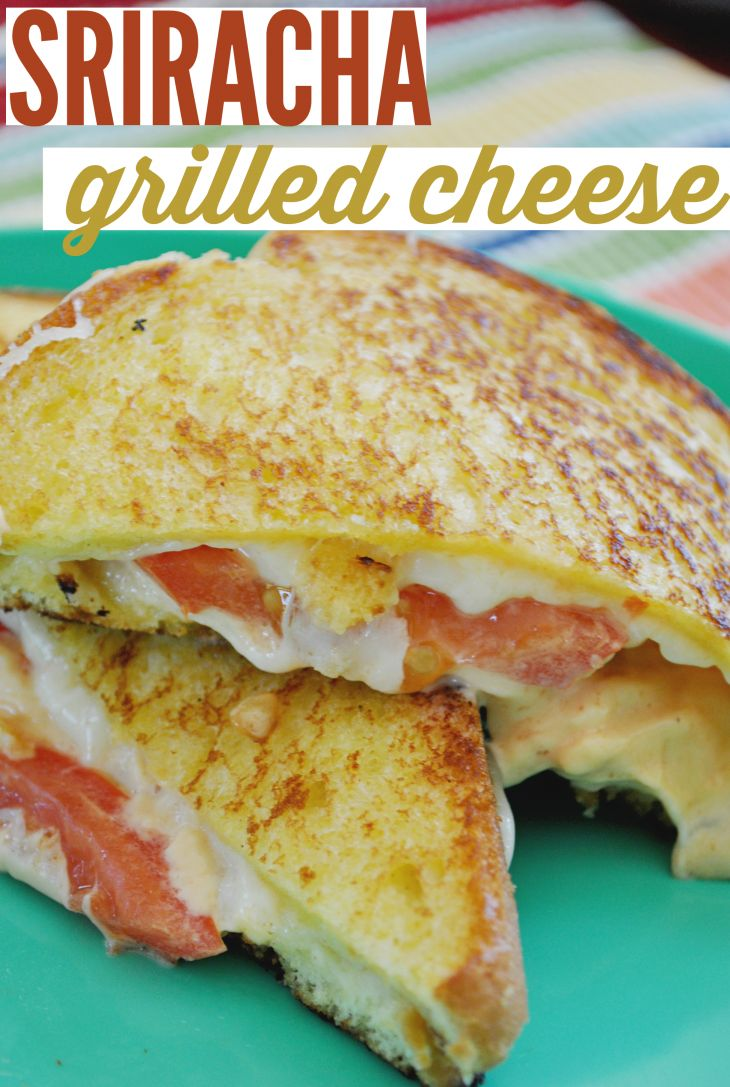 This is the best grown up grilled cheese! Make this Sriracha Grilled Cheese with colby and havarti cheeses. Add a touch of sriracha mayo and enjoy! #TimetoBelieve #CleverGirls