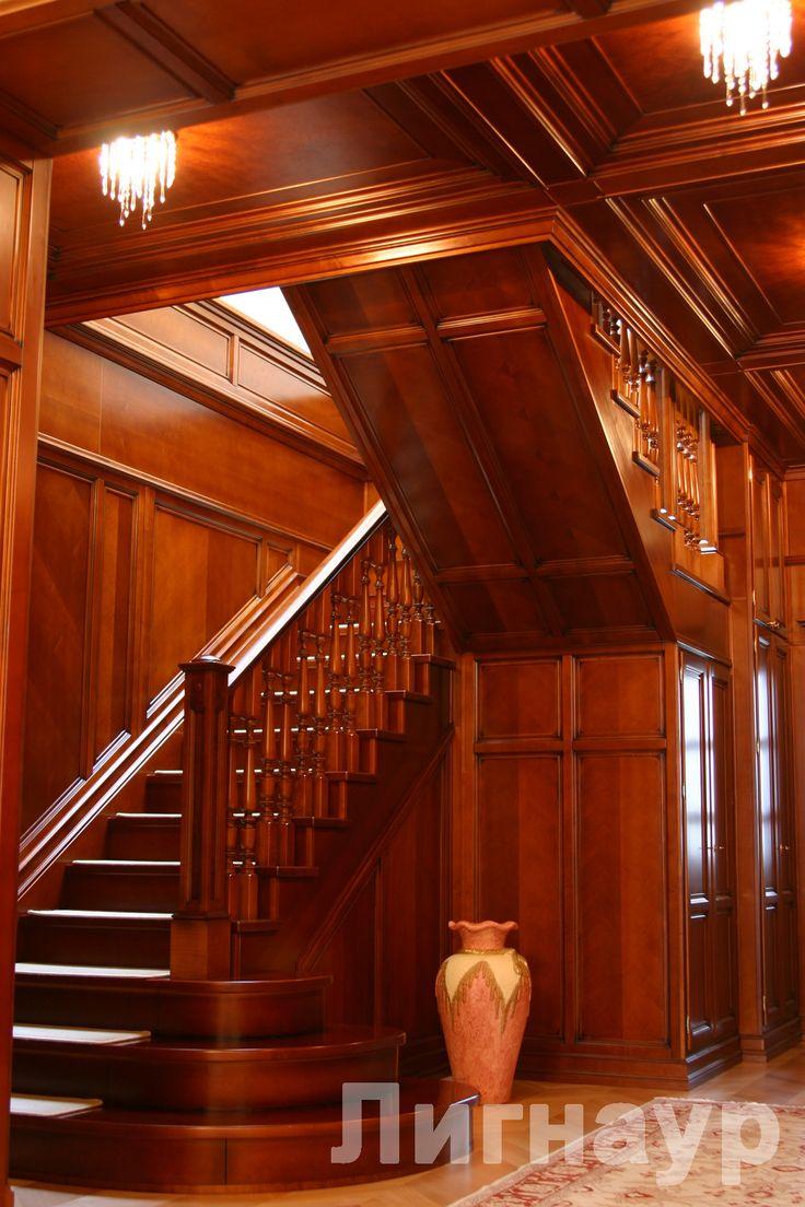 Интерьер холла вид 2. - деревянные лестницы, интерьеры из дерева, отделка деревом | дизайн проекты, дизайны интерьера | столярные изделия | мебель из натурального дерева