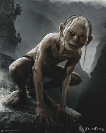 Poster Lord of the rings Le seigneur des anneaux Gollum