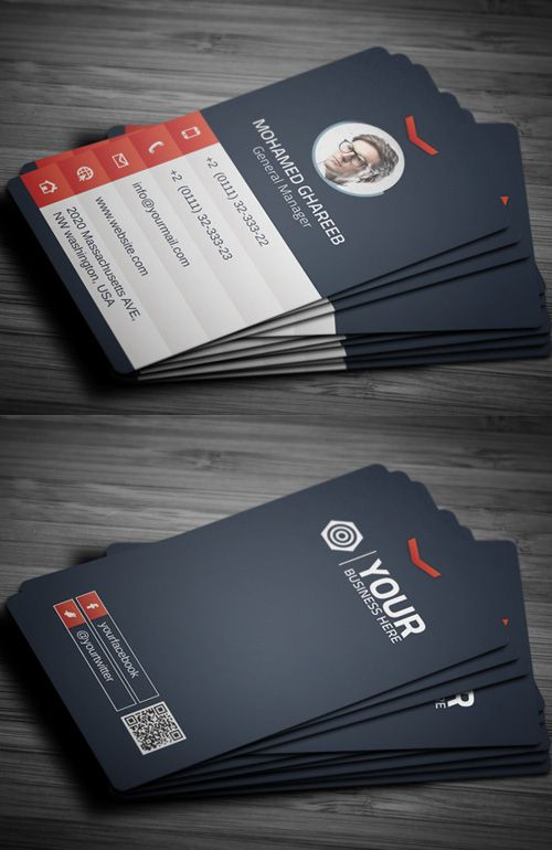Designer Business Card #businesscards #businesscarddesign #psdtemplates #corporatedesign