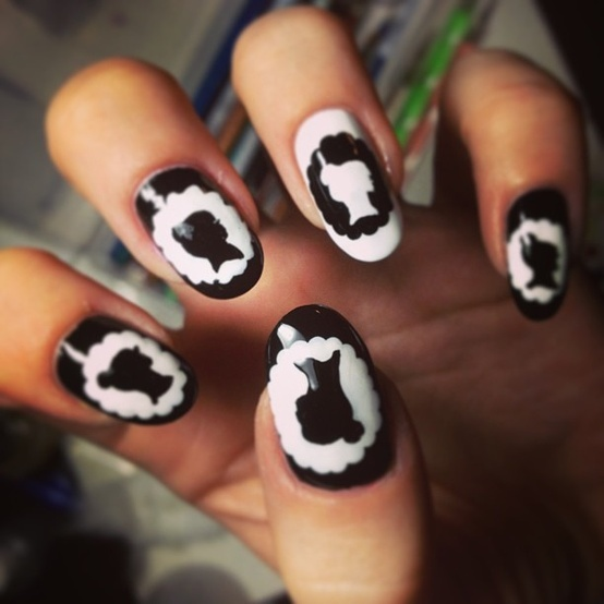 Nail Cake Blue Black Splodges Cow Print: 43 Best Images About Silhouettes On Pinterest