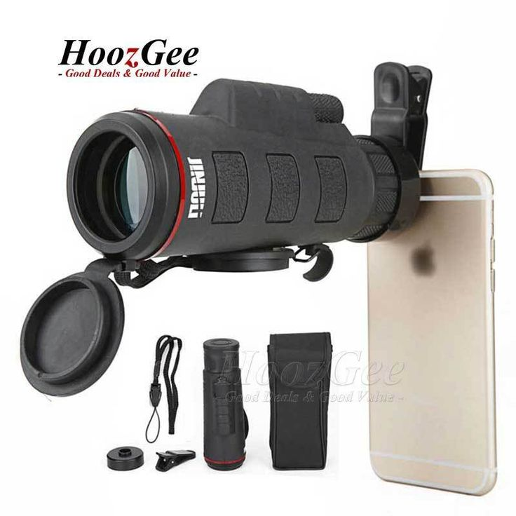 35x50 Zoomable Optical HD Telescope Camera Lens For Smart Mobile Phone Clip On