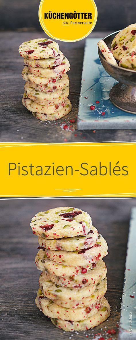 Rezept für Pistazien-Sablés - Plätzchen zu Weihnachten