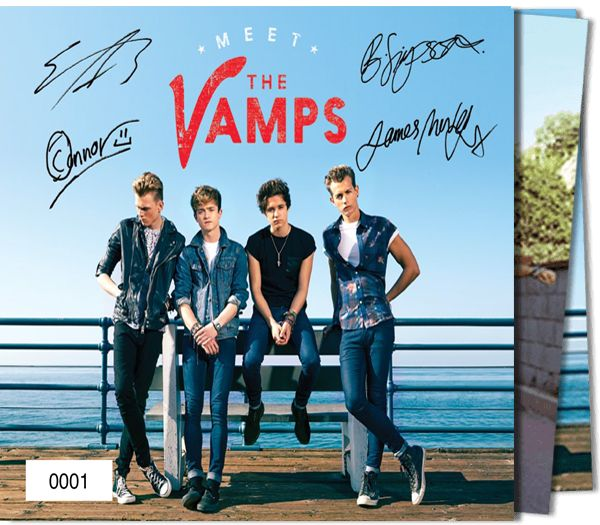 The Vamps - Vamps Album & Dvd + Numbered Slipcase With Printed Signatures