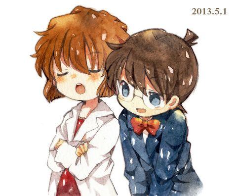 Detective Conan Haibara and Conan