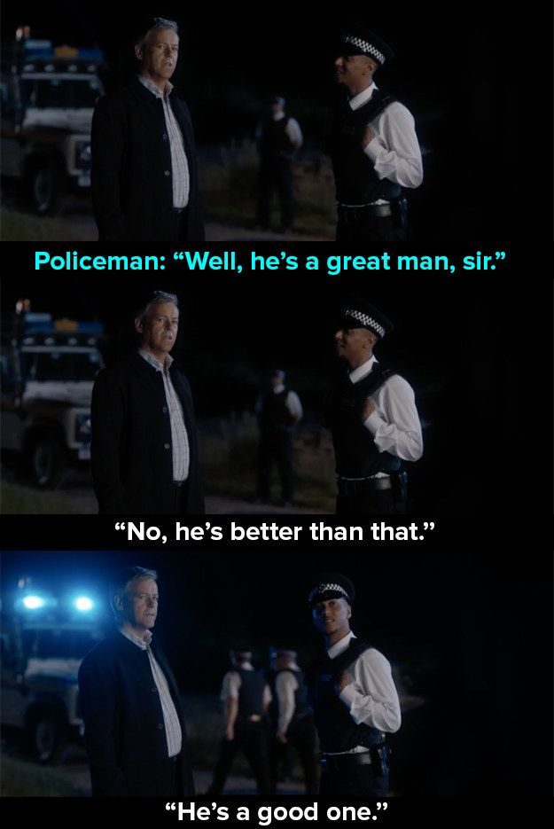 """At the end of last night's episode, he said this. 