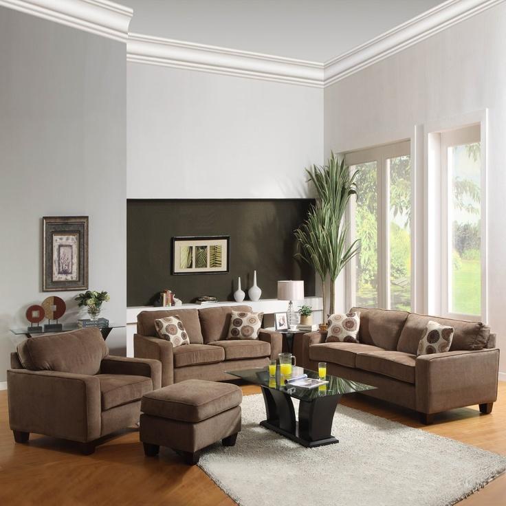 $3045 2 piece Newbury Daisy Living Room Set, Espresso  by Homelegance